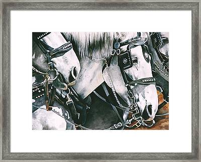 4 Grays Framed Print