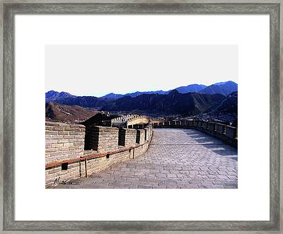 Framed Print featuring the photograph Great Wall by Marti Green