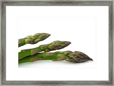 Green Asparagus Framed Print by Blink Images