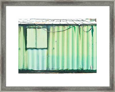 Green Metal Framed Print by Tom Gowanlock