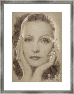 Greta Garbo Vintage Hollywood Actress Framed Print
