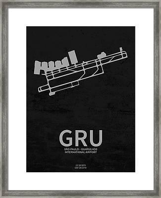 Gru Sao Paulo - Guarulhos International Airport In Guarulhos Bra Framed Print by Jurq Studio