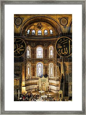 Hagia Sophia Interior Framed Print by Artur Bogacki