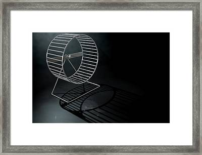 Hamster Wheel Empty Framed Print by Allan Swart