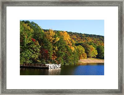 Hanging Rock Lake Framed Print