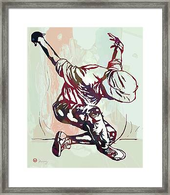 Hip Hop Street Dancing  Pop Art Poster   Framed Print