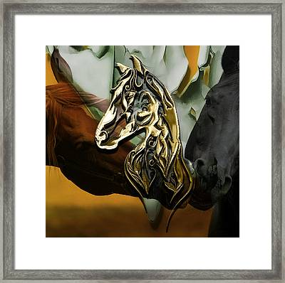 Horse Art Collection Framed Print