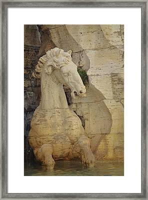 Horse In Fountain  Framed Print by JAMART Photography