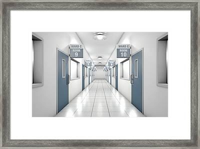 Hospital Hallway Framed Print