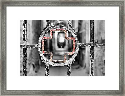 Hospital Wing View Framed Print by JAMART Photography