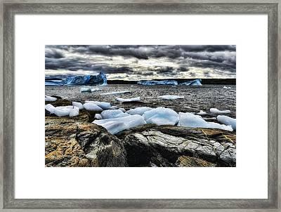 Icebergs At St. Anthony Framed Print