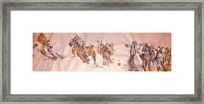 Il Palio Unrolled Framed Print