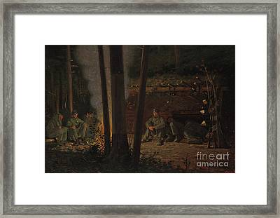 In Front Of Yorktown Framed Print by Winslow Homer