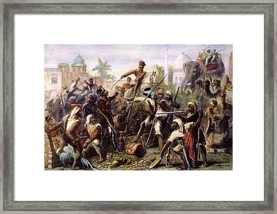 India: Sepoy Mutiny, 1857 Framed Print