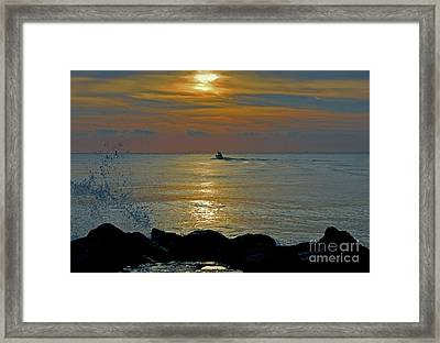 Framed Print featuring the photograph 4- Into The Day by Joseph Keane