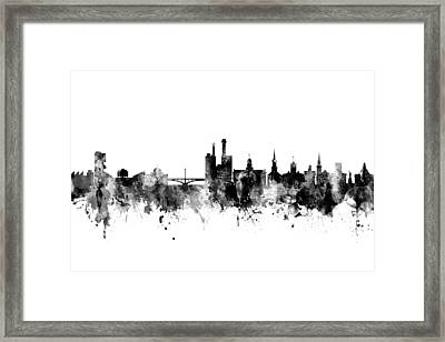 Iowa City Iowa Skyline Framed Print