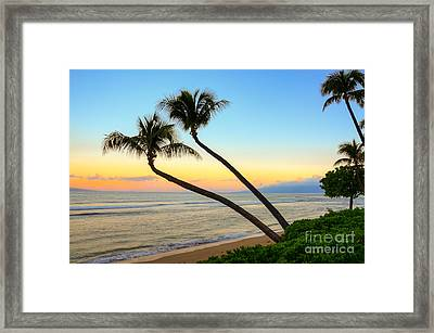 Framed Print featuring the photograph Island Sunrise by Kelly Wade