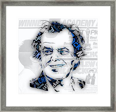 Jack Nicholson Movie Titles Framed Print