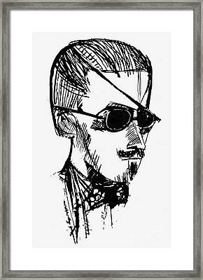 James Joyce (1882-1941) Framed Print by Granger
