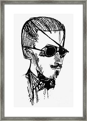 James Joyce (1882-1941) Framed Print
