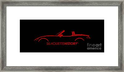 Japanese Roadster Silhouettehistory Framed Print