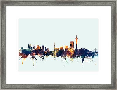 Johannesburg South Africa Skyline Framed Print