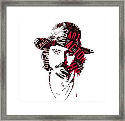 Johnny Depp Movie Titles Framed Print
