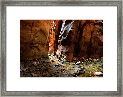 Kanarra Slot Canyon Framed Print