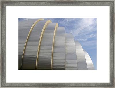 Kauffman Center For Performing Arts Framed Print by Mike McGlothlen