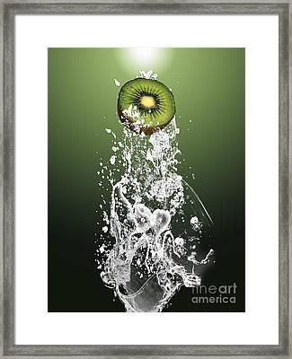 Kiwi Splash Framed Print