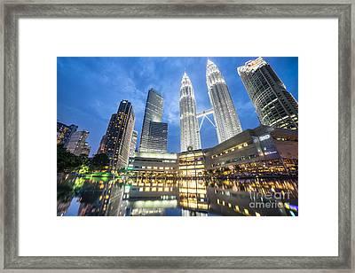 Kuala Lumpur Petronas Towers Framed Print