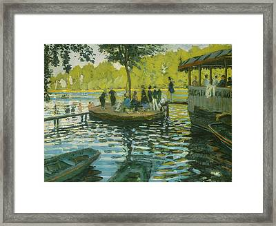 La Grenouillere Framed Print by Claude Monet
