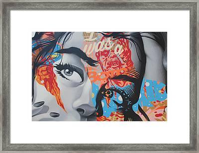 La Street Art Framed Print