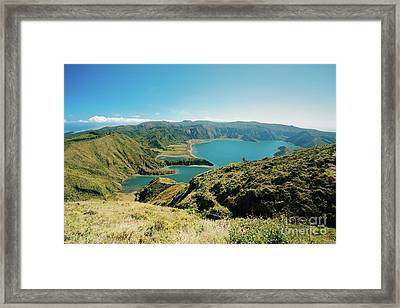 Lagoa Do Fogo Framed Print by Gaspar Avila