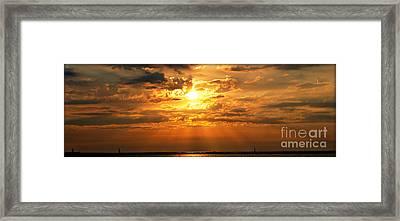 Lake Erie Sunset Framed Print