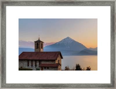 Lake Thun - Switzerland Framed Print