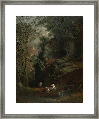 Landscape Near Clifton Framed Print by Francis Danby
