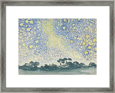 Landscape With Stars Framed Print