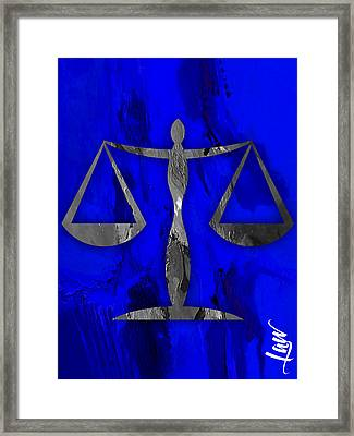 Law Office Collection Framed Print by Marvin Blaine