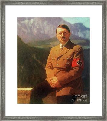 Leaders Of Wwii - Adolf Hitler Framed Print by John Springfield