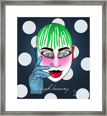Leigh Bowery  Framed Print by Mark Ashkenazi
