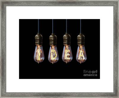 Light Bulb Background Framed Print by Setsiri Silapasuwanchai