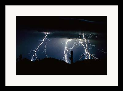 The Lightning Man Photographs Framed Prints