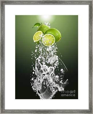 Lime Splash Framed Print