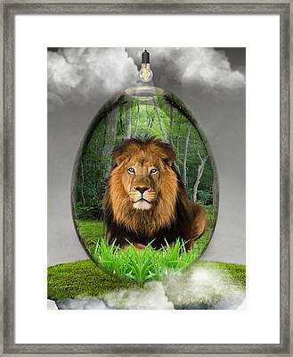 Lion Art Framed Print by Marvin Blaine