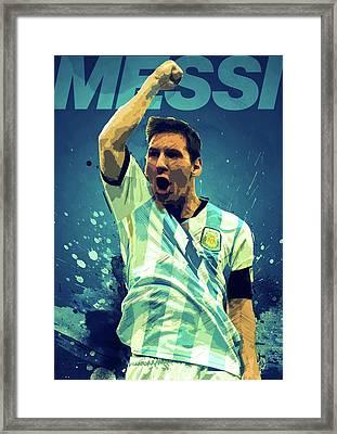Lionel Messi Framed Print by Semih Yurdabak