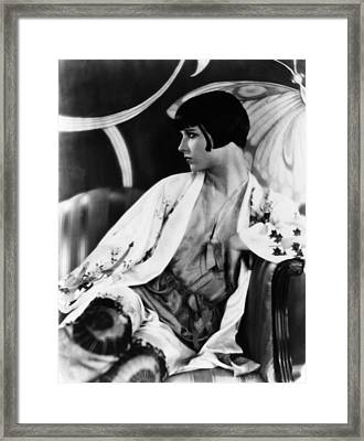 Louise Brooks, Ca. Late 1920s Framed Print by Everett