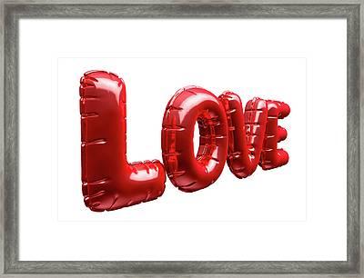 Love Inflatable Balloons Framed Print