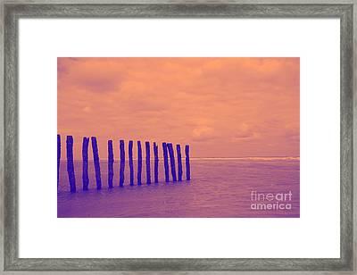 Luminous Beach Rosa Framed Print