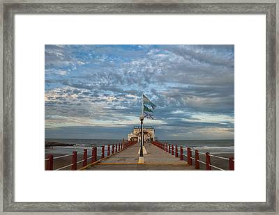 Mar Del Plata City Framed Print by Hans Wolfgang Muller Leg